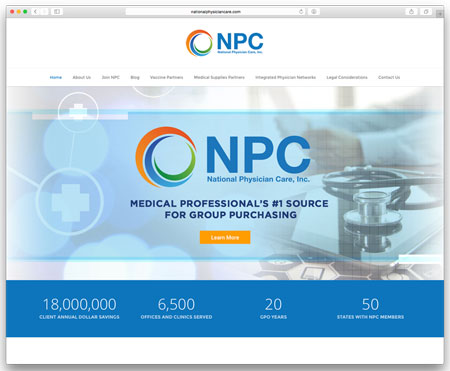 Complete WordPress redesign by Sara Dunn from San Francisco, CA. www.nationalphysiciancare.com